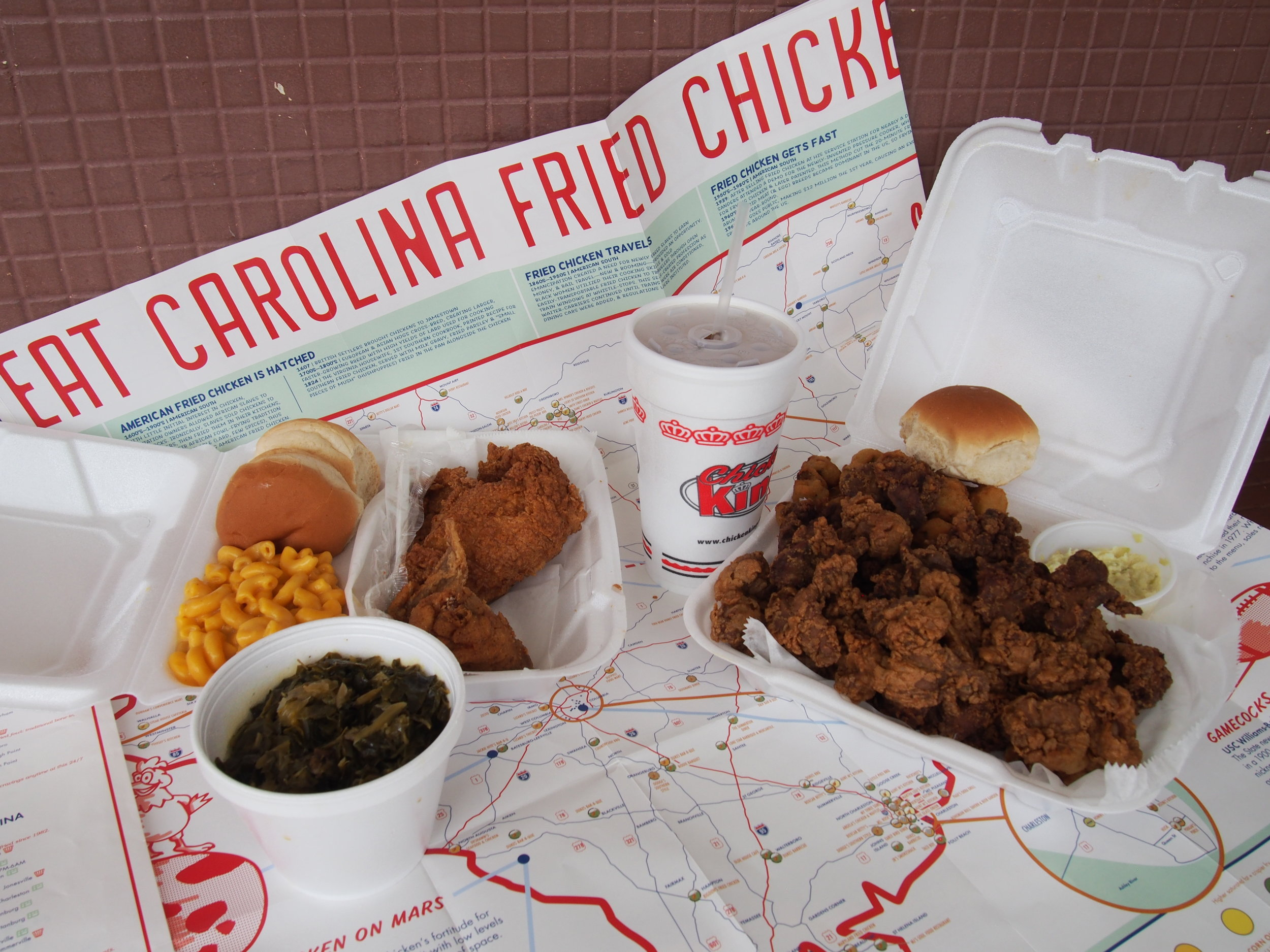 SC & NC Fried Chicken Map