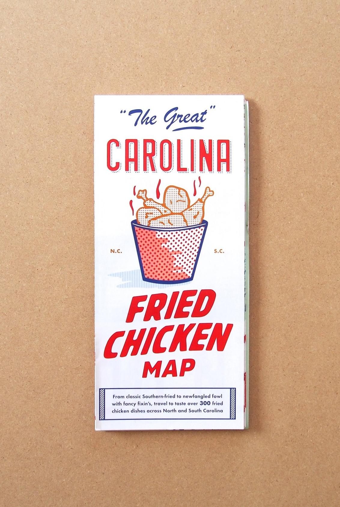 Great Carolina Fried Chicken Map // EDIA Maps