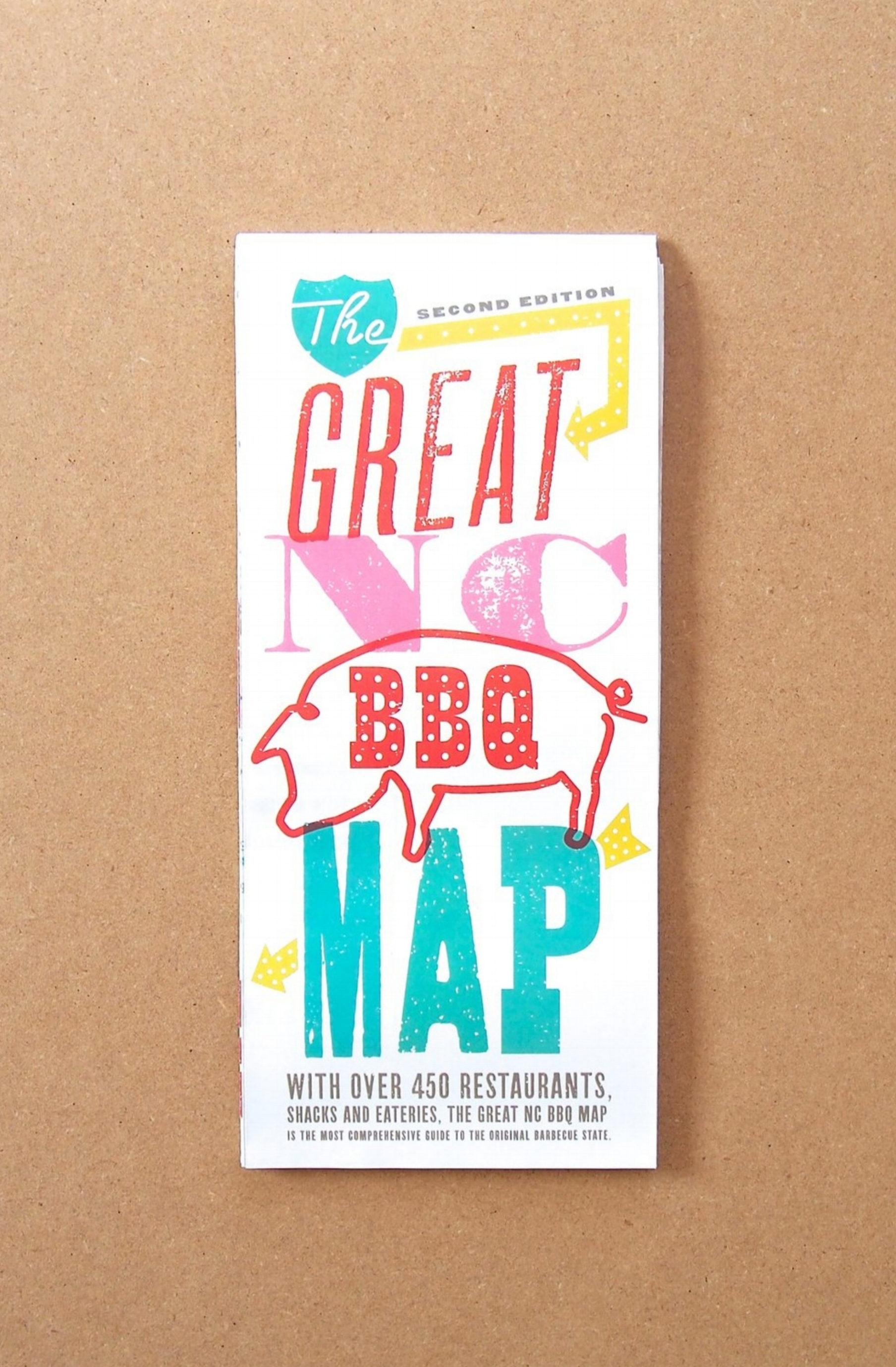 Great NC BBQ Map // EDIA Maps