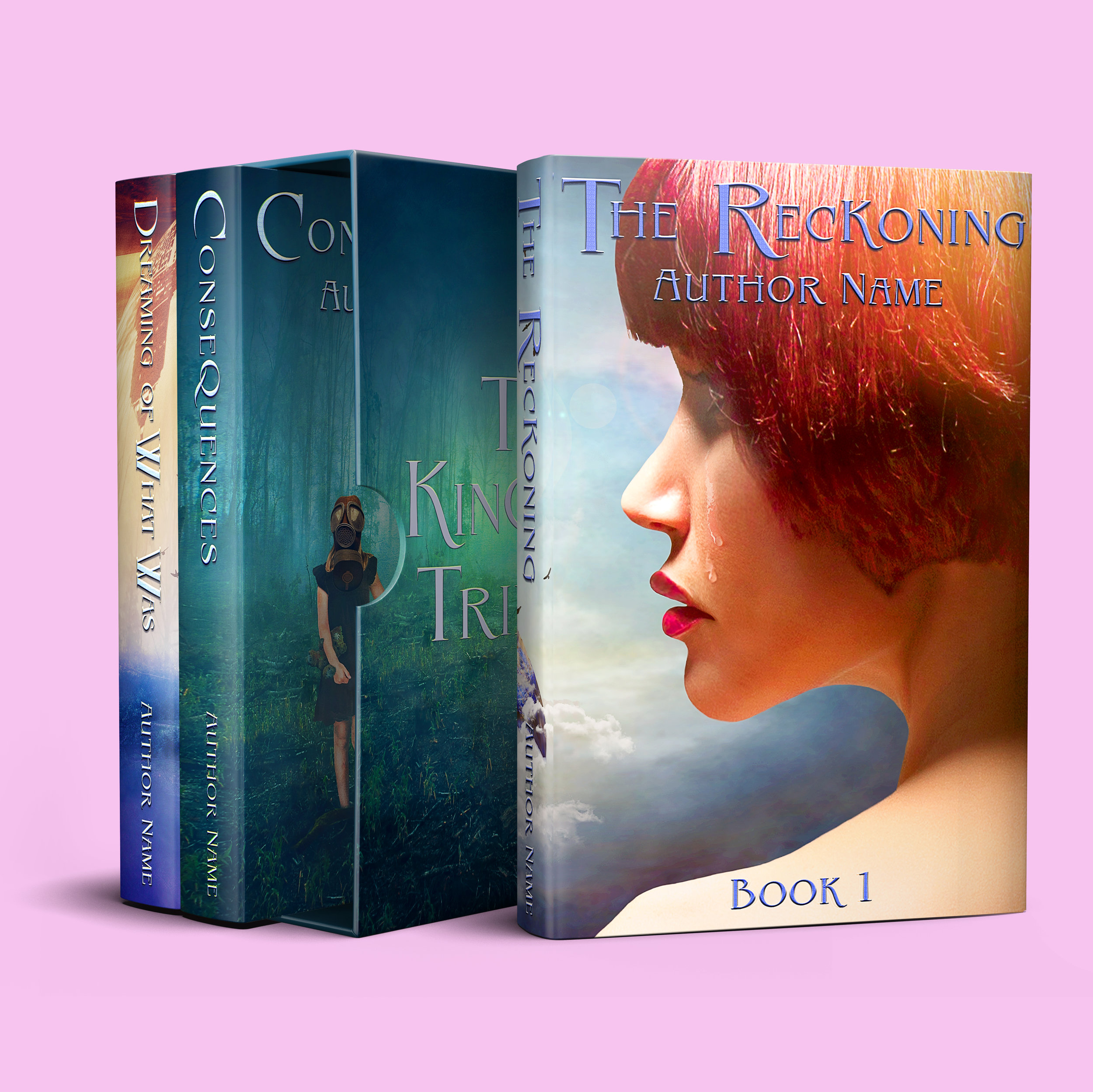 Kingdom Trilogy | Designs by Lisa Kerner | Custom BookCovers