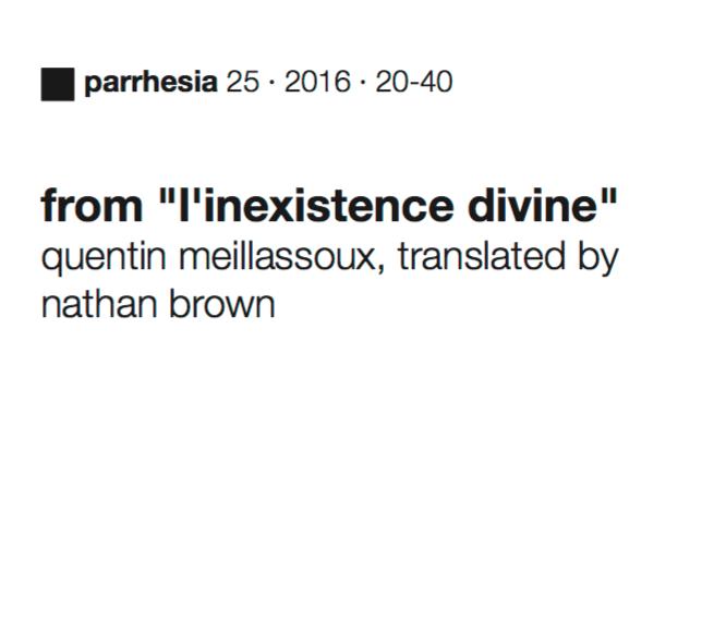 l'Inexistence Divine (translation)