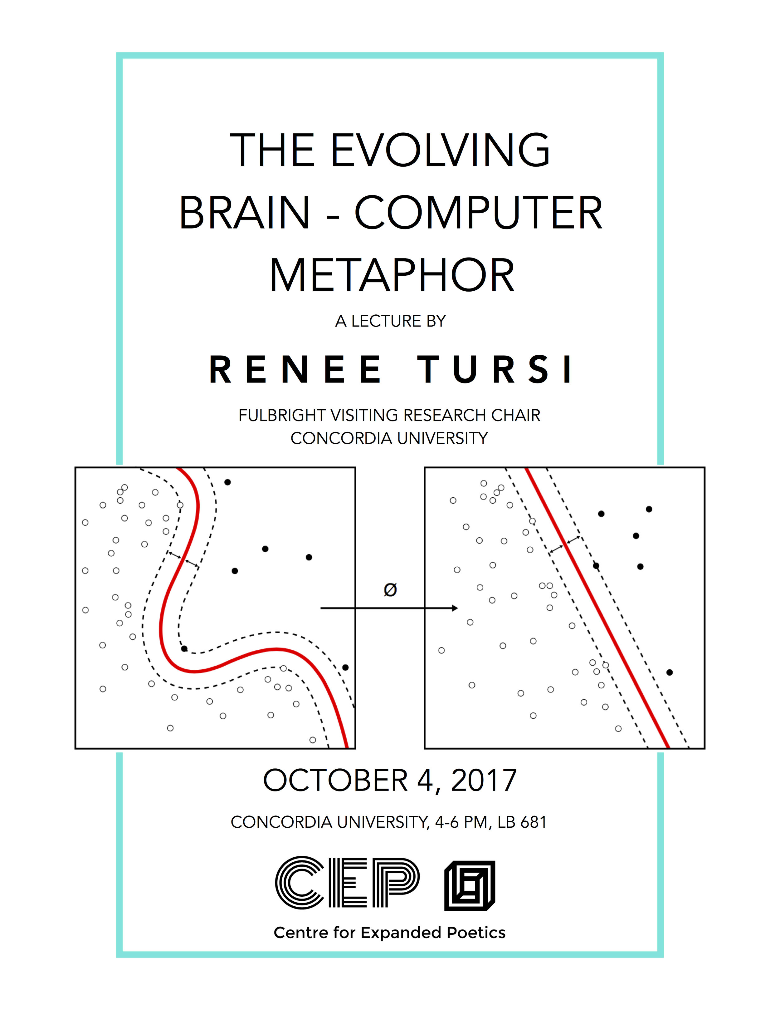 "Join us on October 4 for a lecture on deep learning and ""The Evolving Brain-Computer Metaphor"" by Renee Tursi, Fulbright Visiting Research Chair at Concordia University and affiliate of the CEP, 2017-2018."