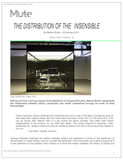 The Distribution of the Insensible