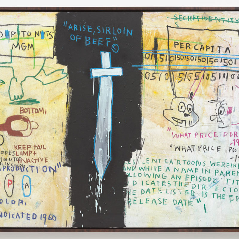 Basquiat, one of his many crosses that speak to its violence.
