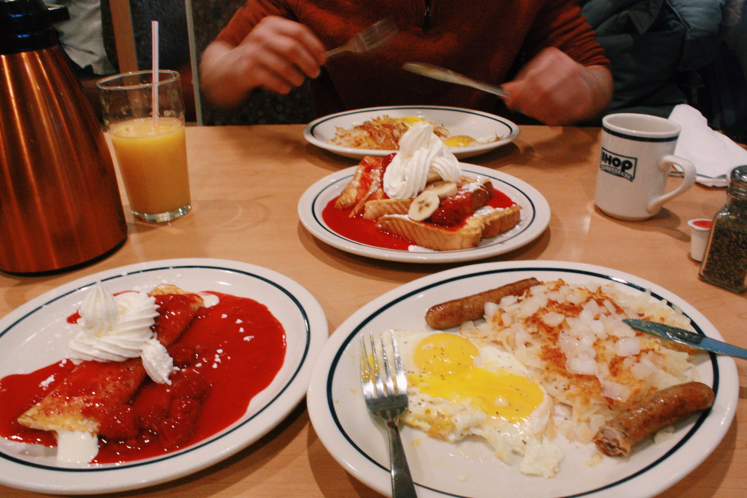 IHOP breakfast.