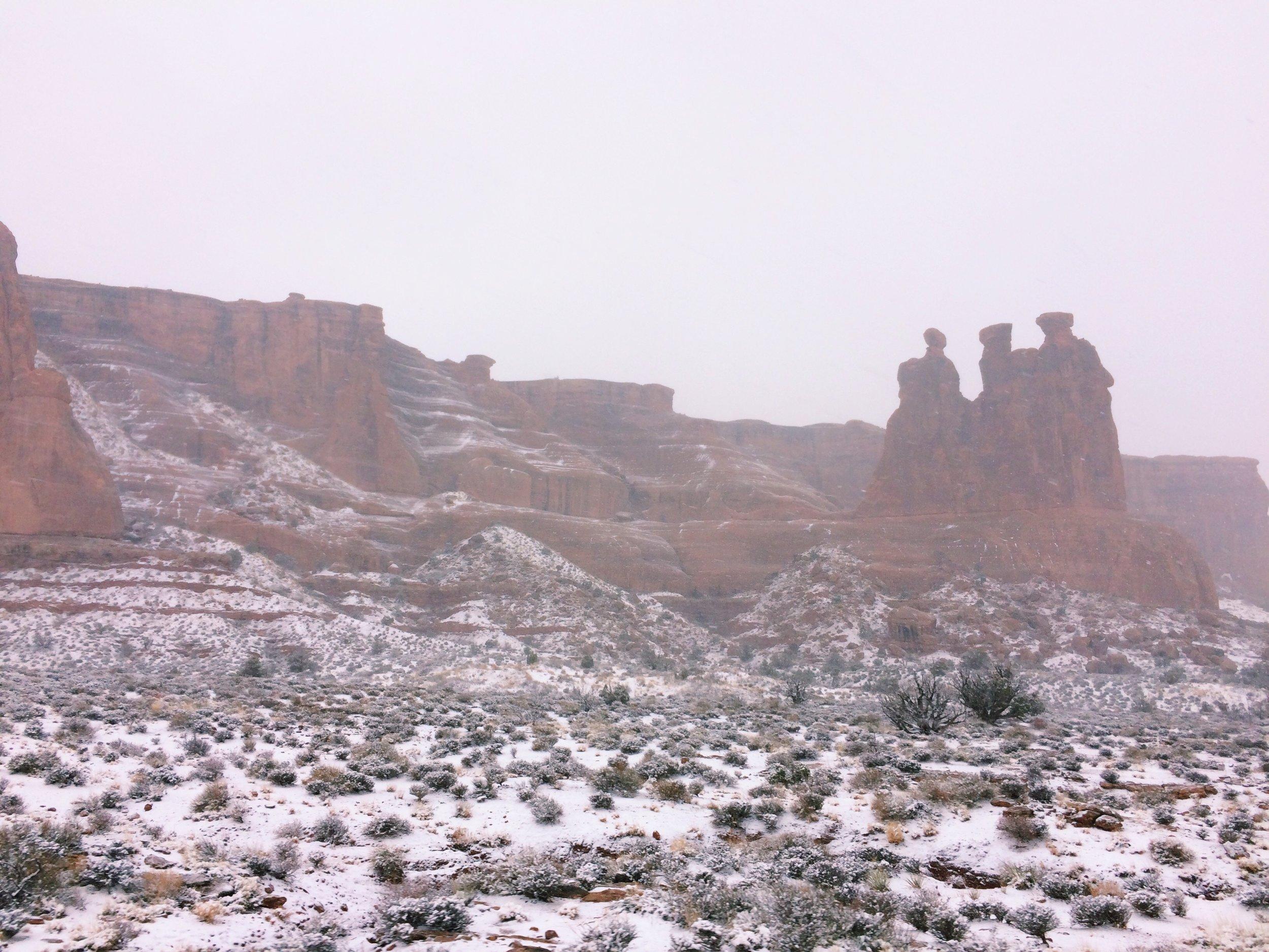Snowey desert.