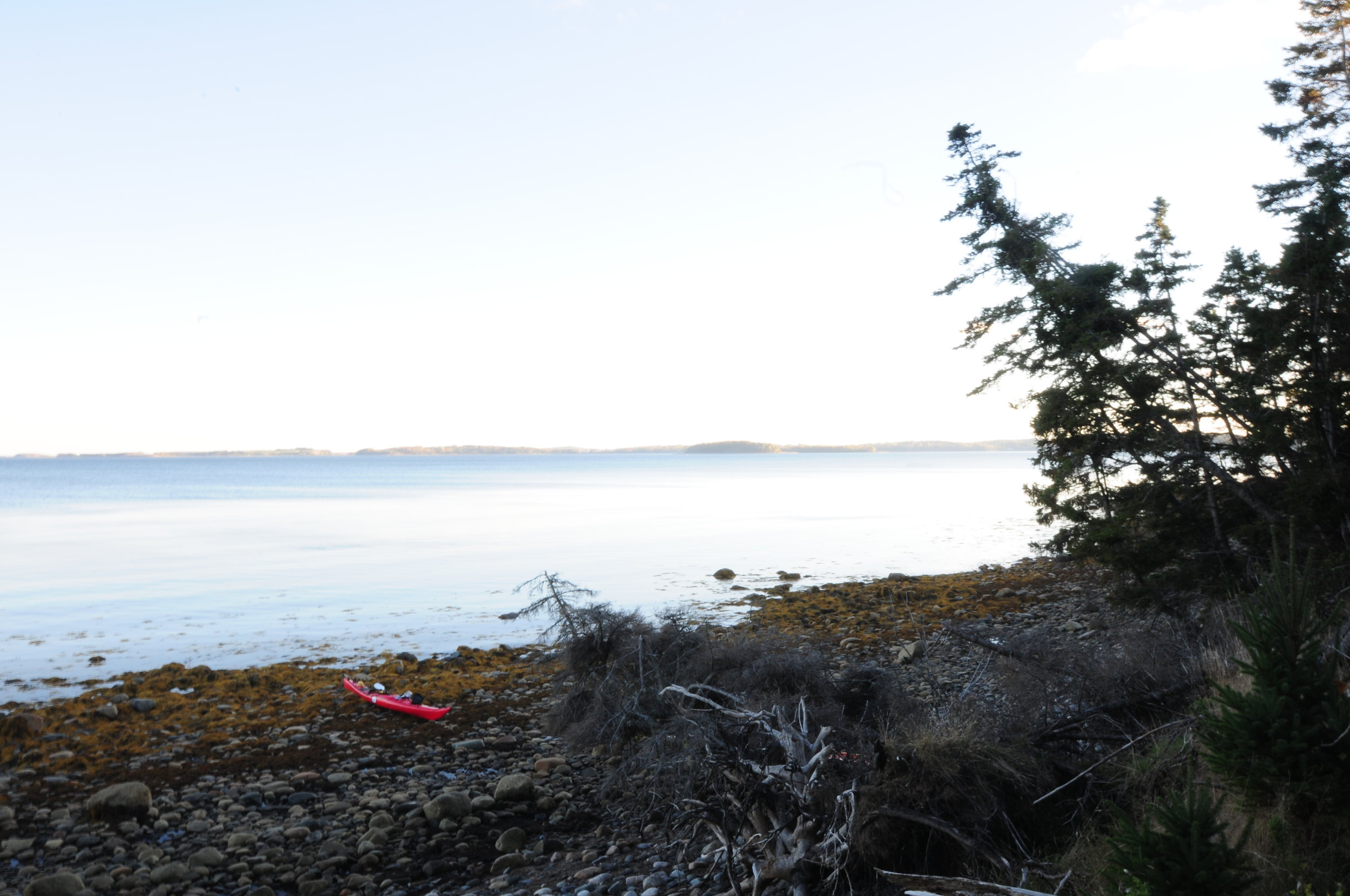 *Rous Island, height of land west with kayak.JPG