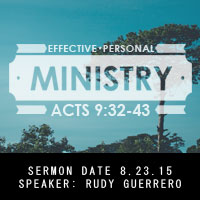 Effective Personal Ministry