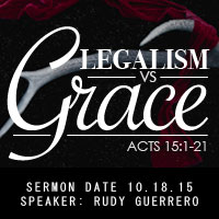 Legalism Vs. Grace