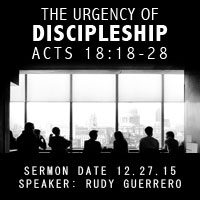The Urgency of Discipleship