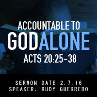 Accountable to God Alone