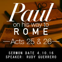 Paul— On His Way to Rome