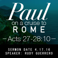 Paul on a Cruise to Rome