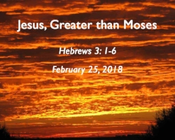 Jesus, Greater than Moses