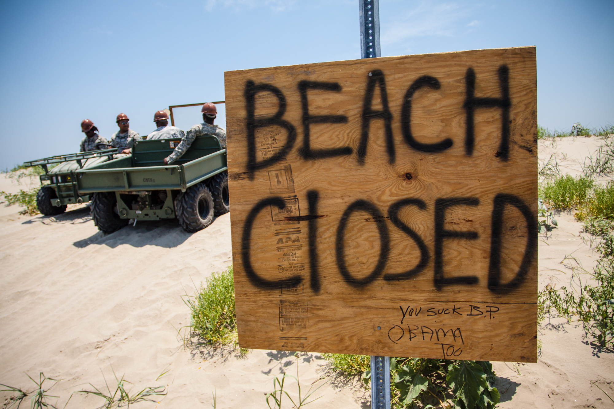 """Beach Closed"" Sign"