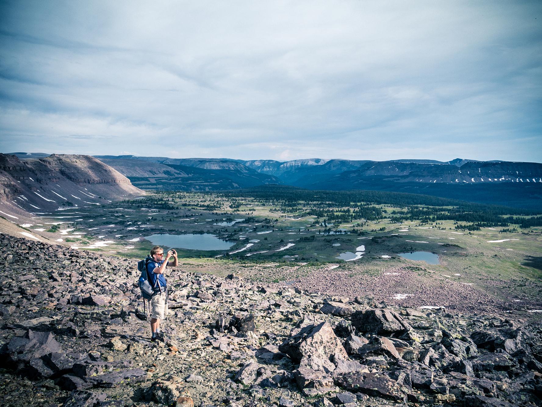 Joe and some high mountain lakes.