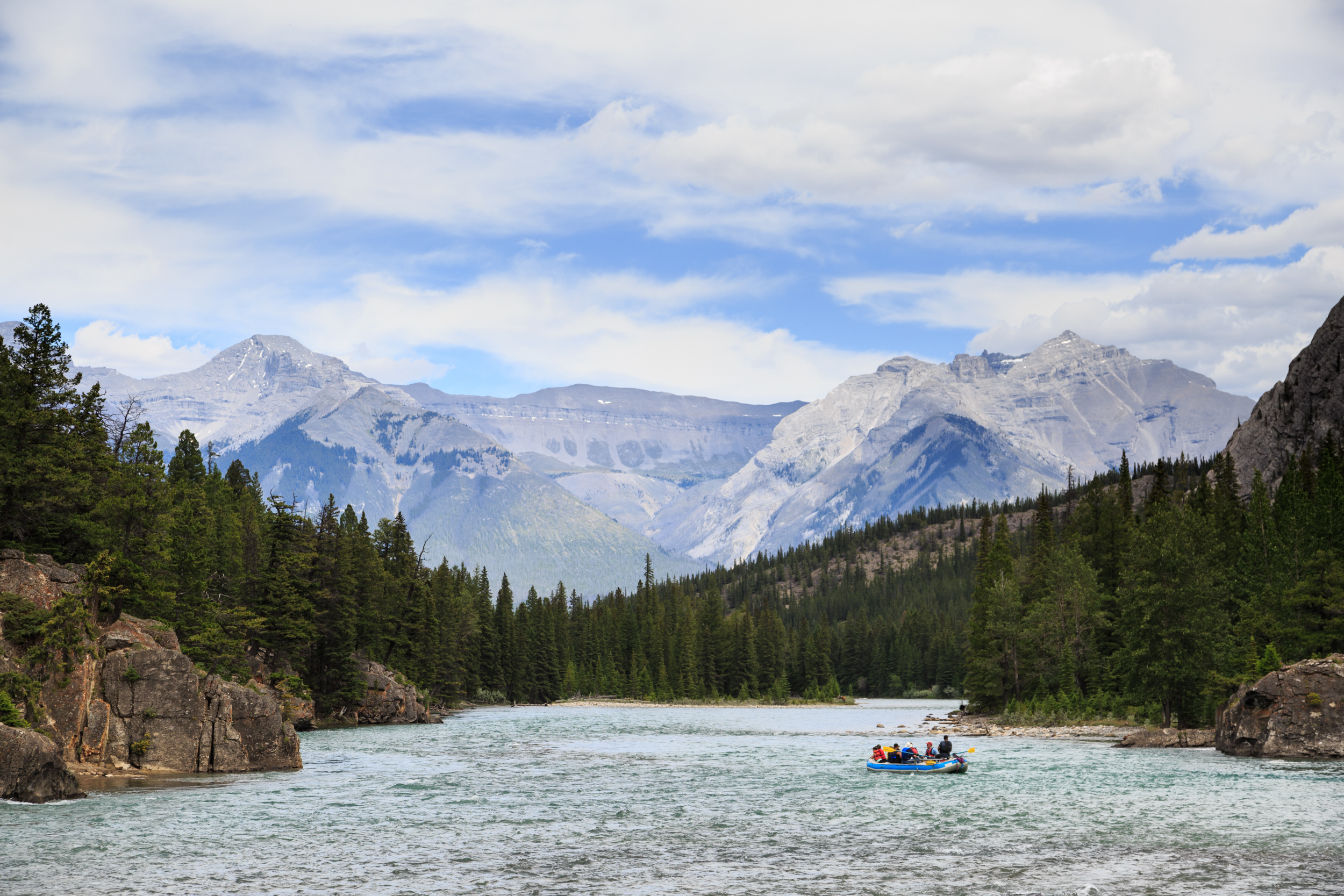 Paddling the Bow River.