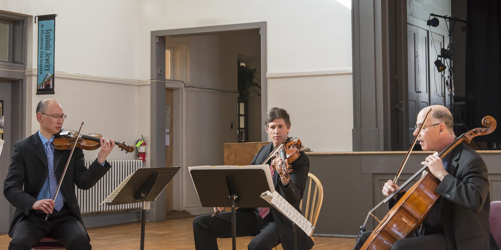 The Adaskin String Trio played a diverse and fulfilling selection of music from Beethoven to Michael White - and even some Paul Simon and StefaneGrappelli.