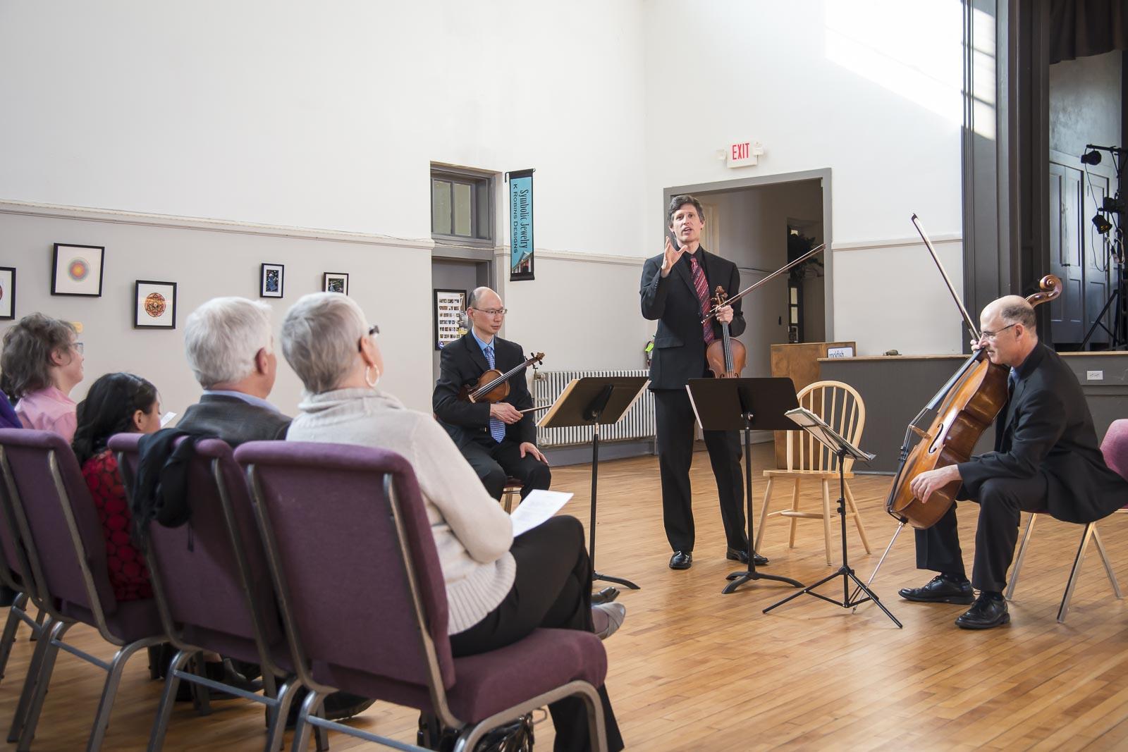 Adaskin String Trio Violist (and Wintergreen Festival Orchestra Principal Violist) introduces the Villa Lobos String Trio (a piece that Jasmin particularly loved).