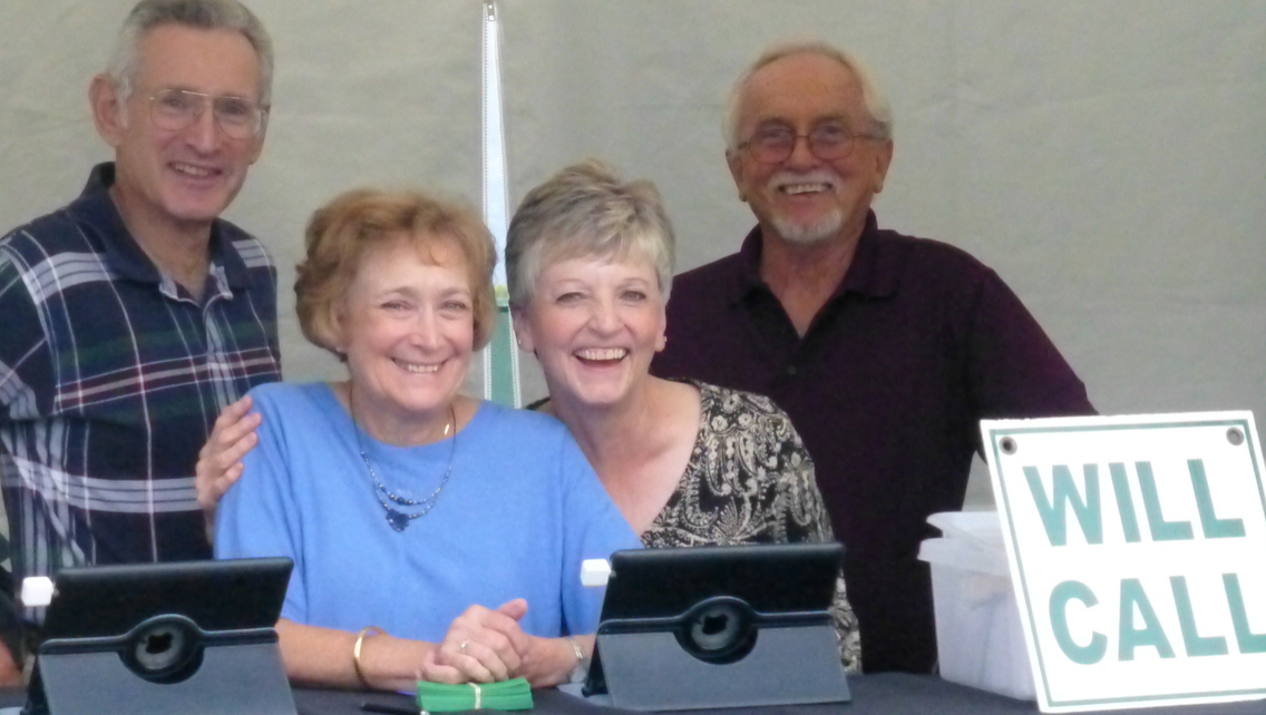 Ticket booth volunteers at the WMF