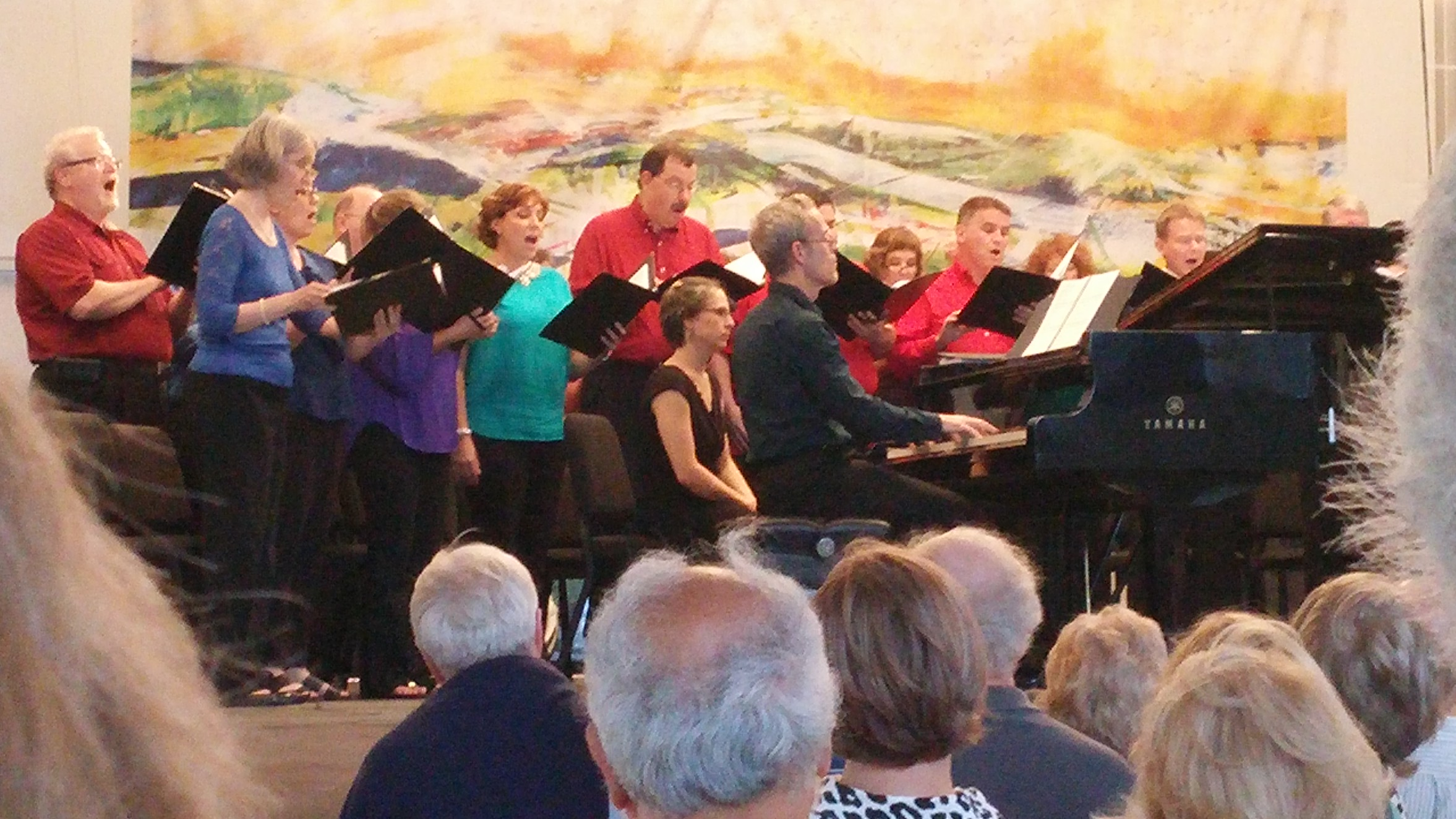 Peter Marshall saves the day as the pianist for this sinful concert. First up:the wickedly hard piano part to  Il Gondolieri . Photo credit: John Taylor