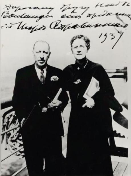 Nadia Boulanger with Igor Stravinsky