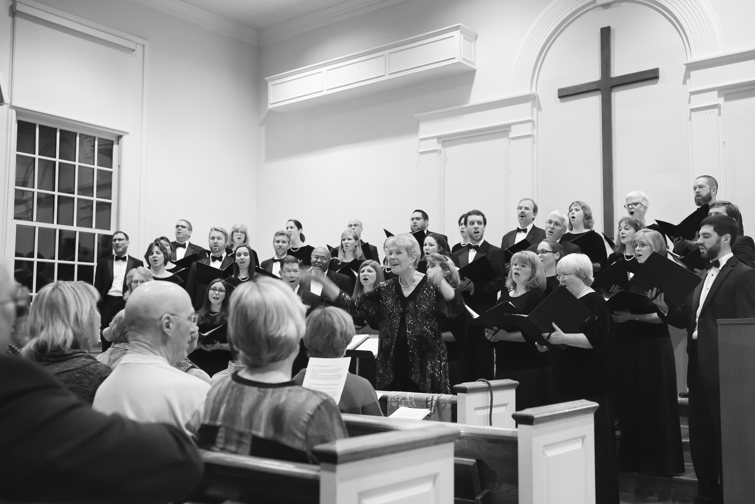 The Virginia Consort performs for a full crowd at the 2015 Blue Ridge Christmas.