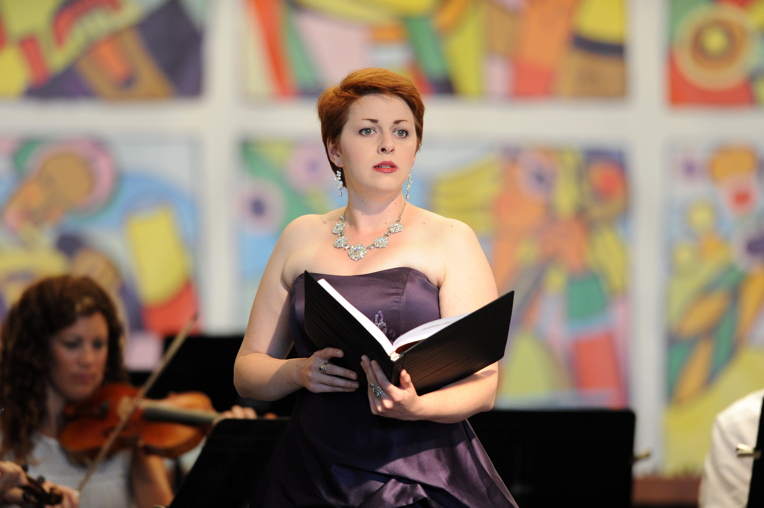 "2016 Vocal Intensive singer Marybeth Verchot sings ""Refiner's Fire"" from Handel's Messiah with the Wintergreen Festival Orchestra."