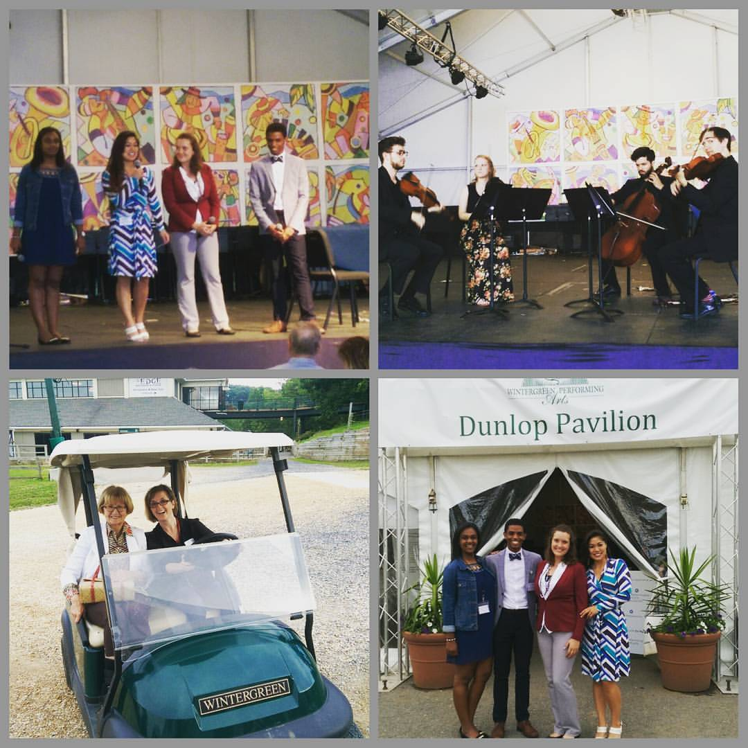 "The 2016 Arts Administration Fellows managed all elements of the Fellowship Quartet concert - from backstage operations to public speaking and fundraising. They managed the student ushers and the production team, and they even assigned Artistic Director Erin Freeman to ""Golf-Cart Duty."""