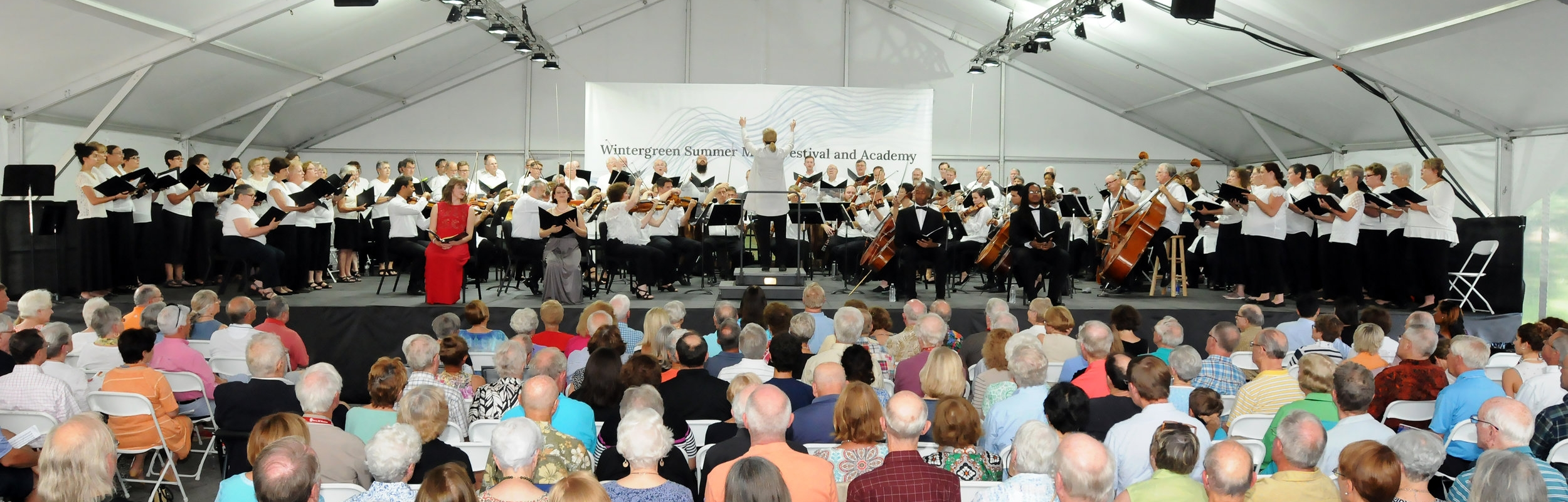 Sing with Us! 2017. More than 80 singers came from as far as Florida and Chicago to sing Mozart's Requiem on top of beautiful Wintergreen Mountain.