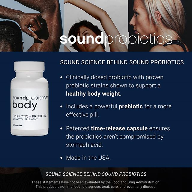 There are many different probiotic strains and they have different effects in your body, so it is important to choose the right strains for your needs. Sound Body is clinically formulated to help optimize body weight and percent body fat. #guthealth #probiotics #prebiotics #synbiotics