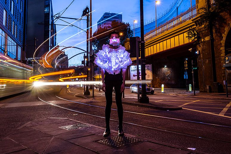 Human Sensor artist Kasia Molga. (Photo: Nick Harrison)