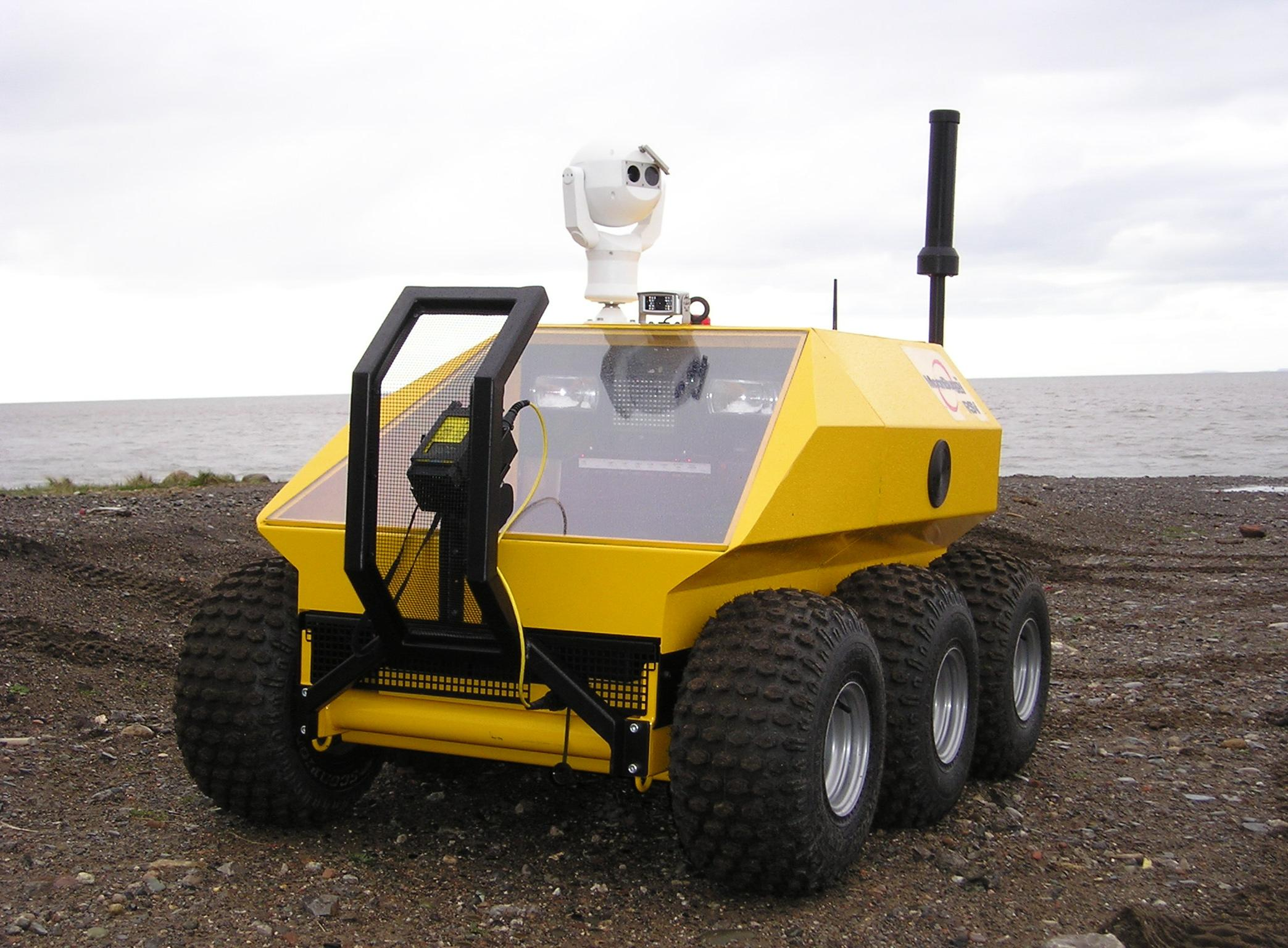 MoonBuggy™  First Response Unmanned Ground Vehicle. Designed and built at our Maryport facility, the vehicle can be operated up to 2 miles from a nuclear incident.