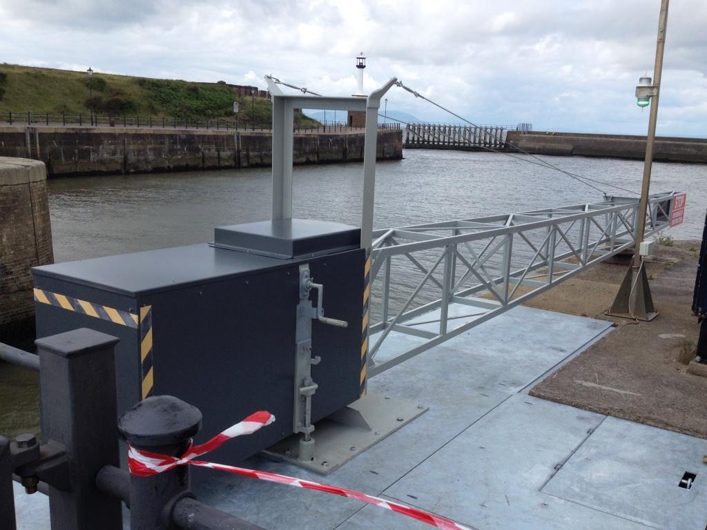 Barrier for dock entrance