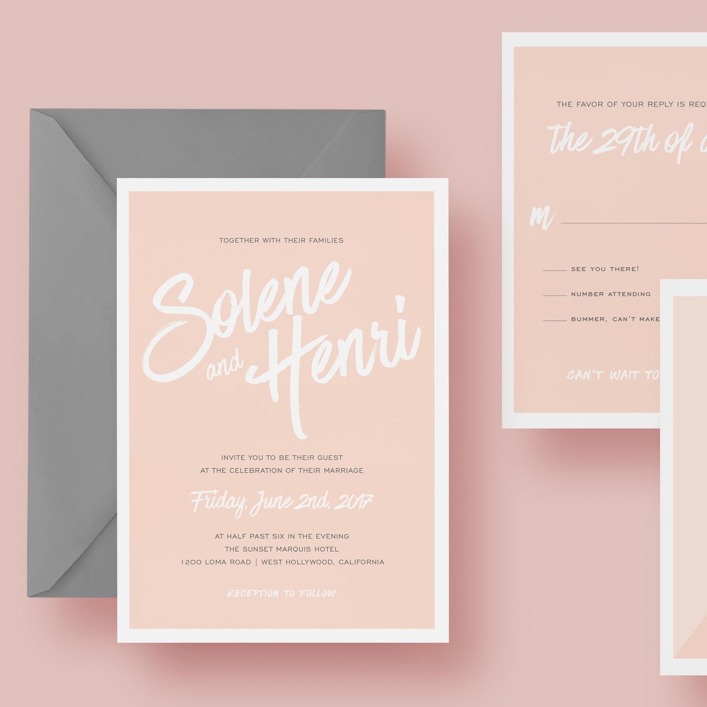 wedding invitation suite invite custom design orange county