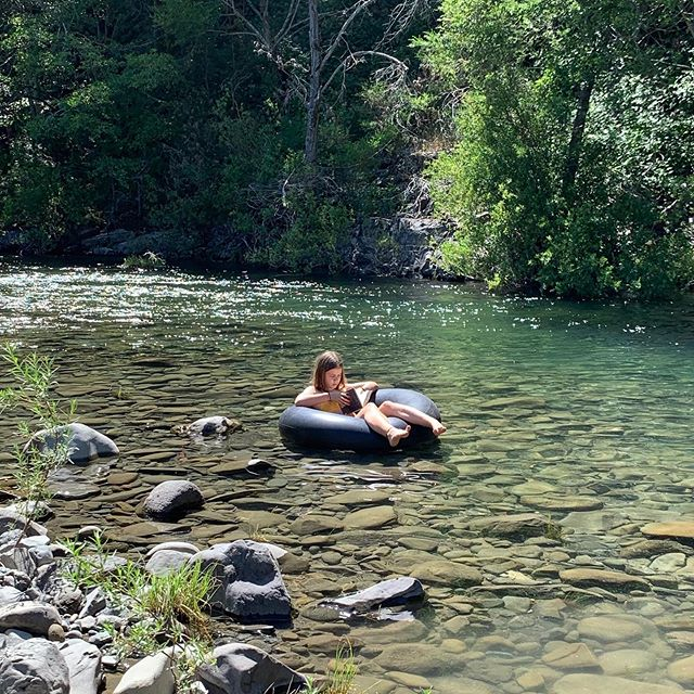 #river reading #relaxing#summer#eel river#mendocinocounty#