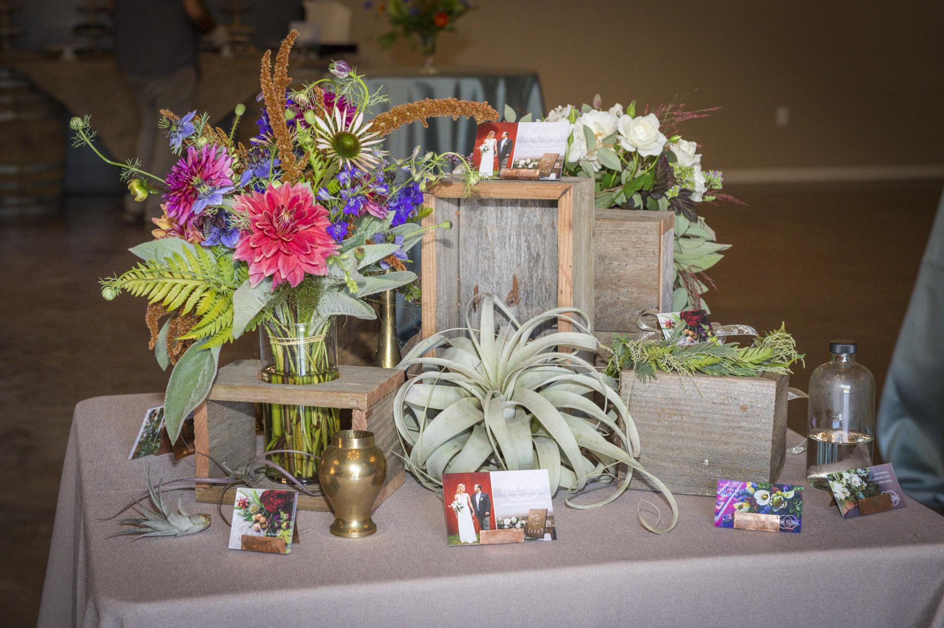 Venn Floral flower display at The Highlands Estate