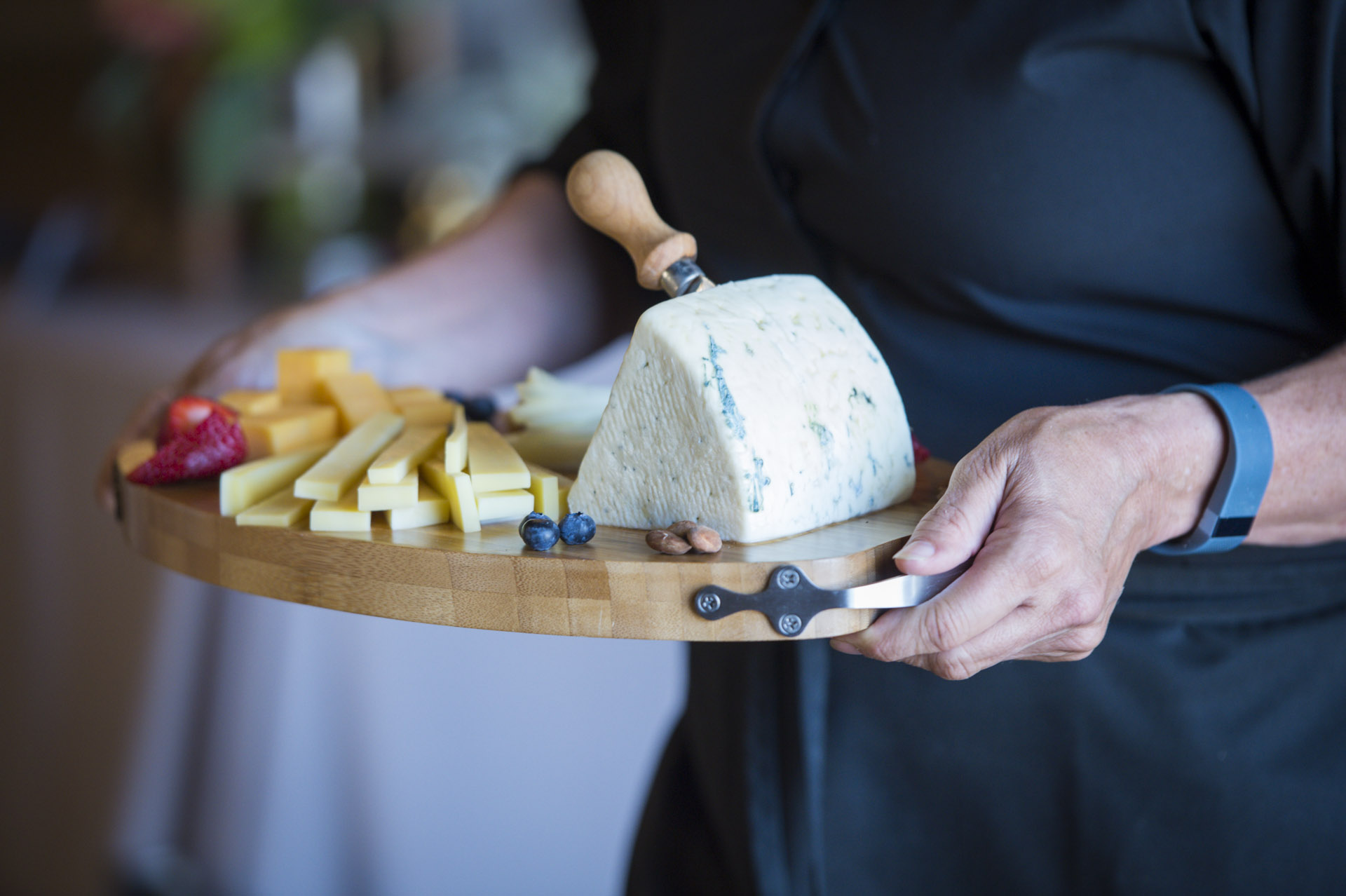 Decadent cheeses  at The Highlands Estate