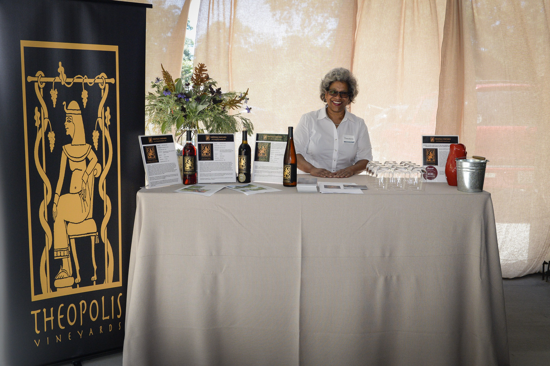 Theopolis winery pouring at The Highlands Estate
