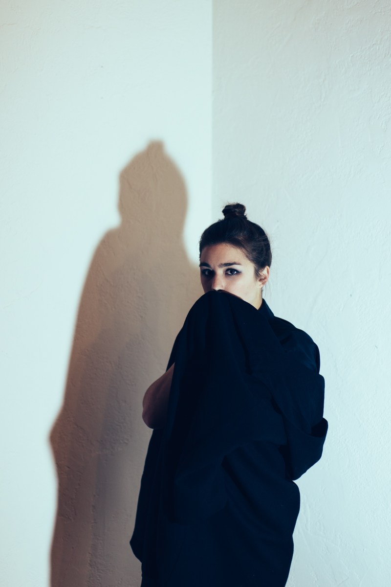 Musician  Susy Sun wearing  SCHAI ;EP cover shoot