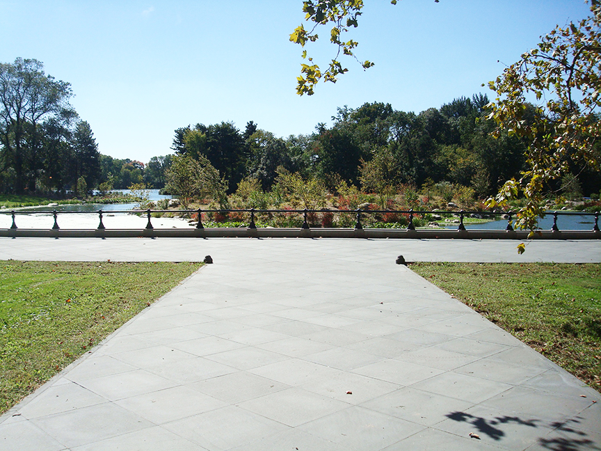 Historic Lakeshore Reconstruction, Prospect Park, Brooklyn, New York   Project was performed while employed as Assistant Landscape Architect at the  Prospect Park Alliance . Photo credit: Crystal Gaudio