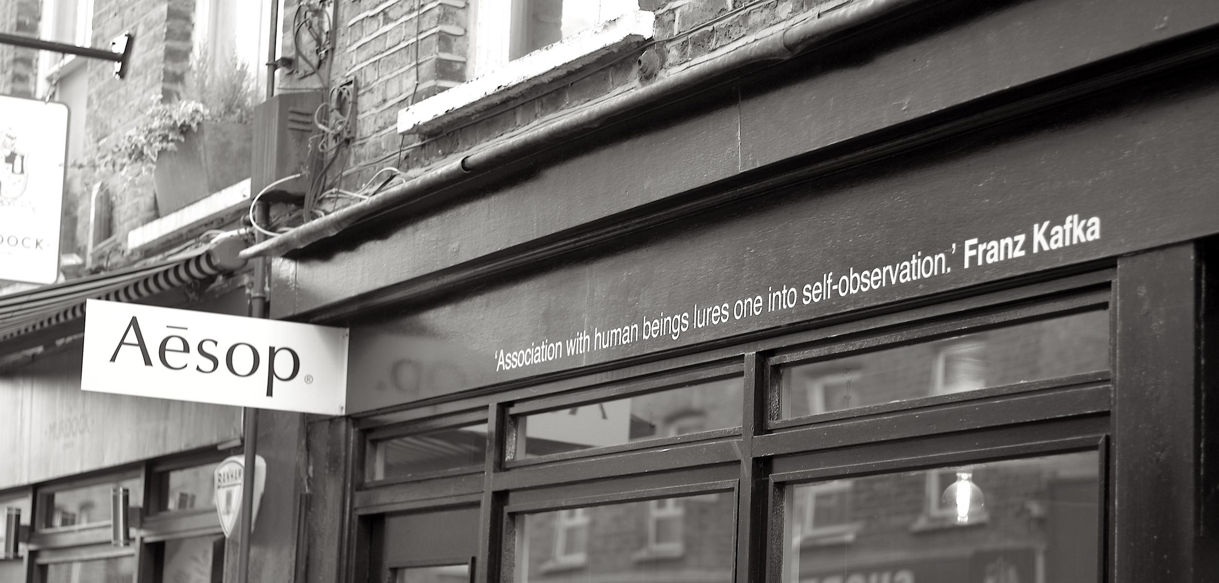 Casual snob - Aesop Store Redchurch Street
