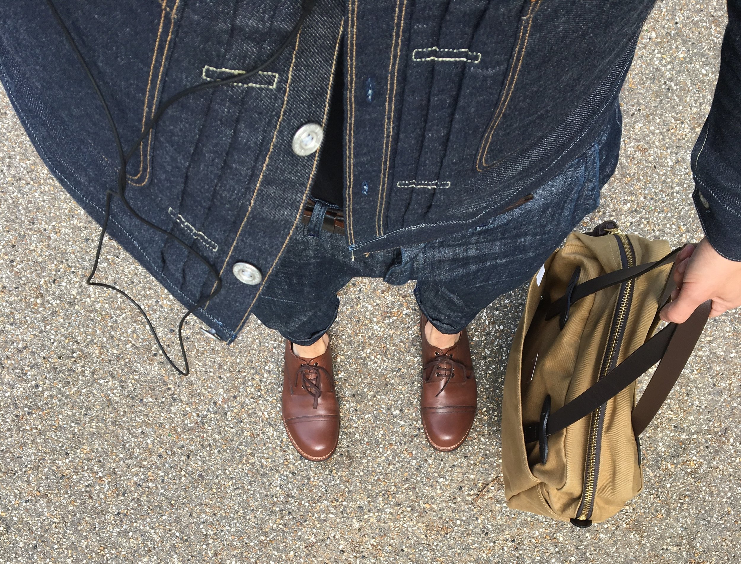 Casual snob - Denim and Filson tote bag.jpg