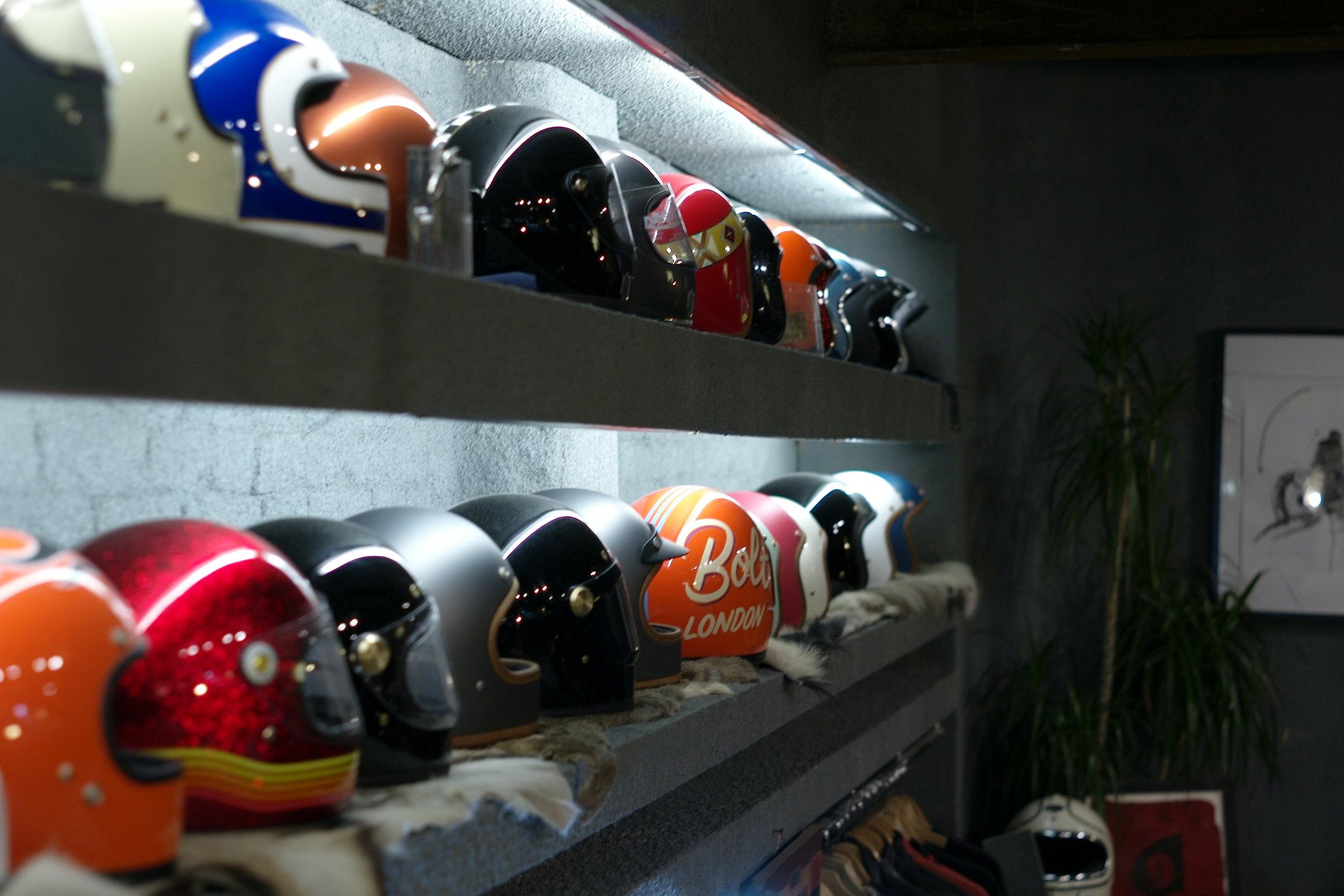 Casual snob - Bolt London Store Helmets Hedon Bell Biltwell.JPG