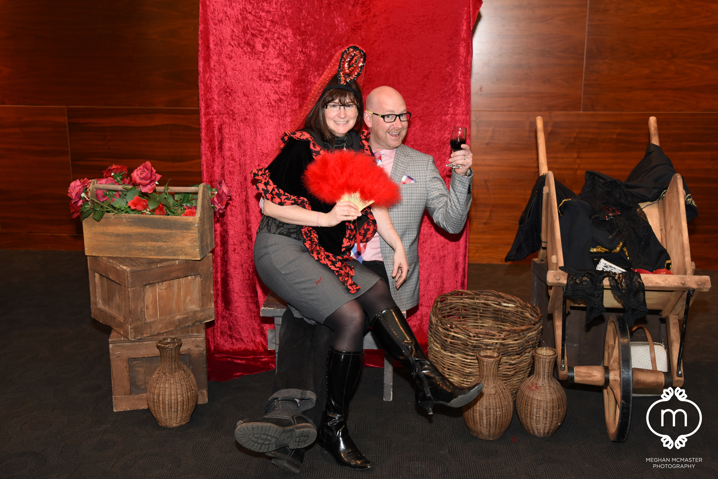 A Spanish themed photobooth at the Calgary Opera's  Carmen .