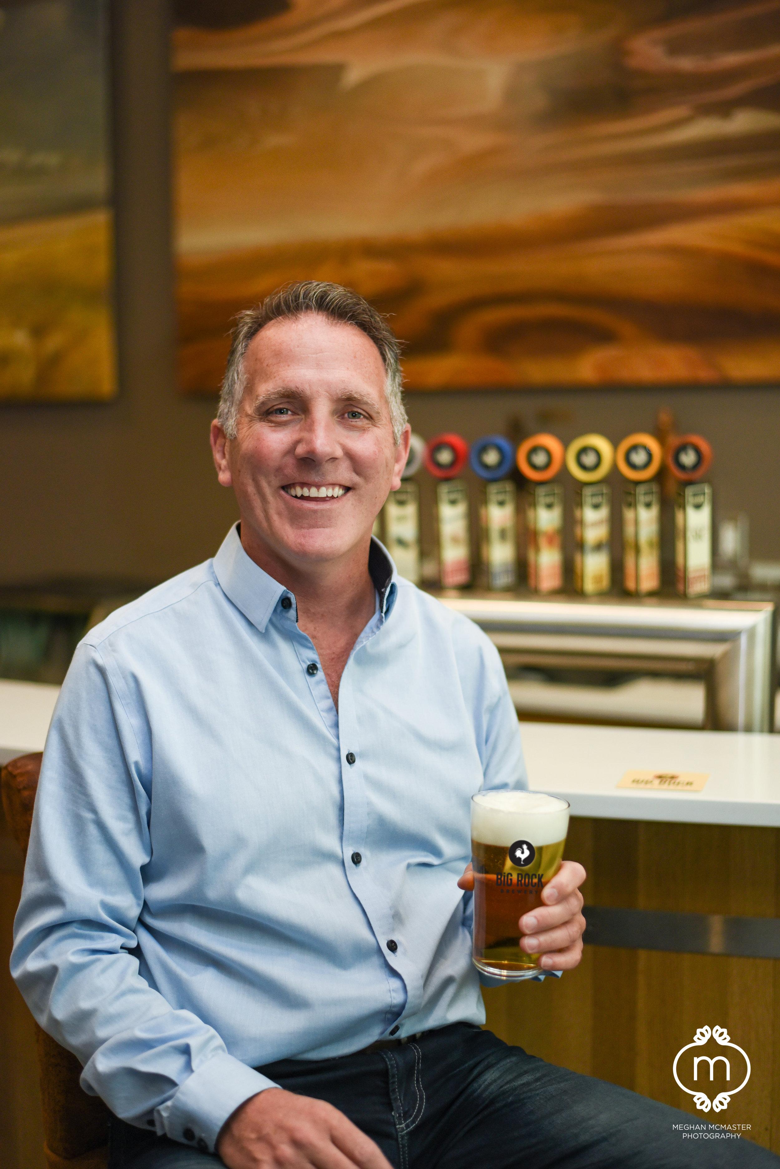 Big Rock Brewery CEO, Wayne Arsenault