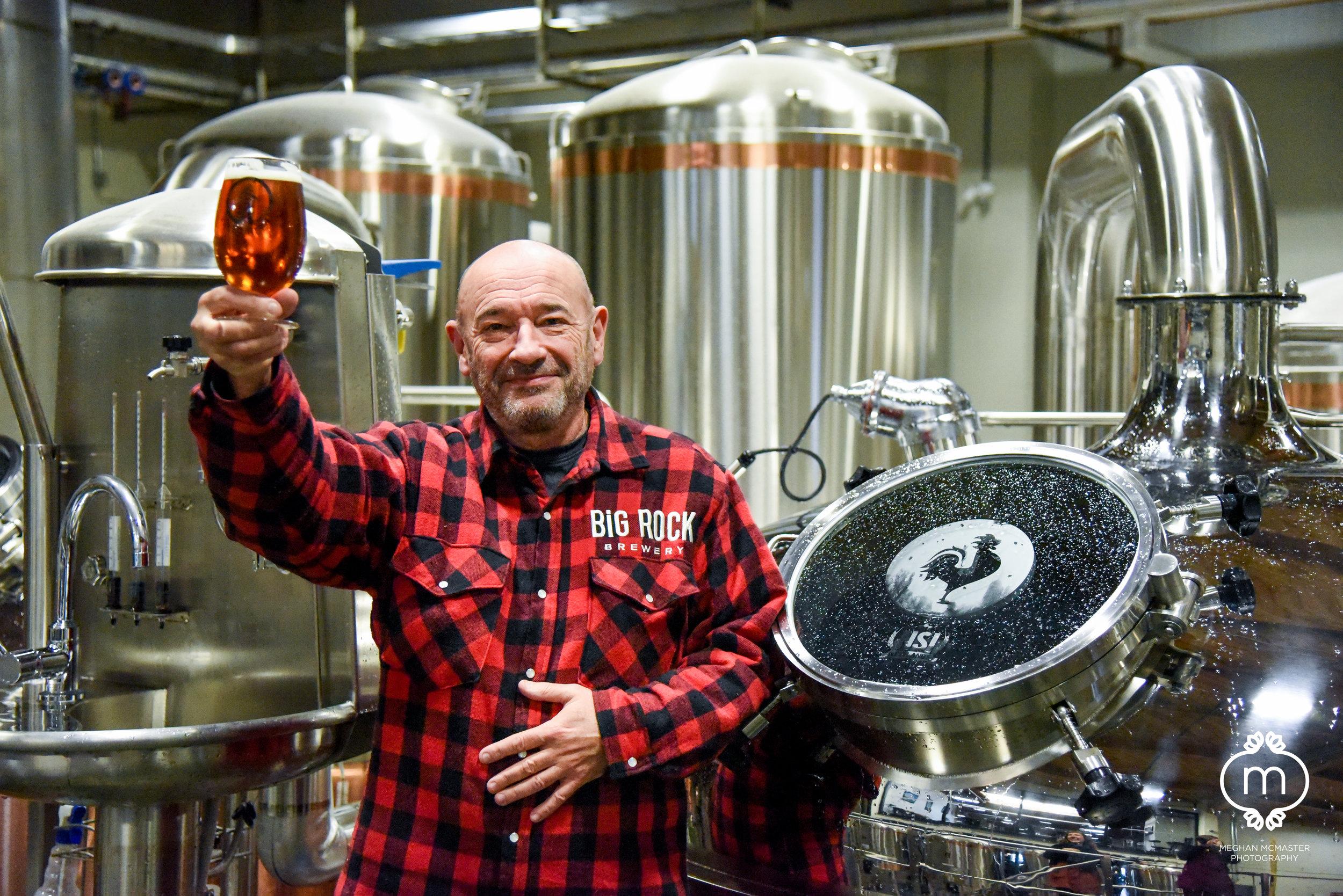 Big Rock Vancouver Brewmaster, Rick Dellow.