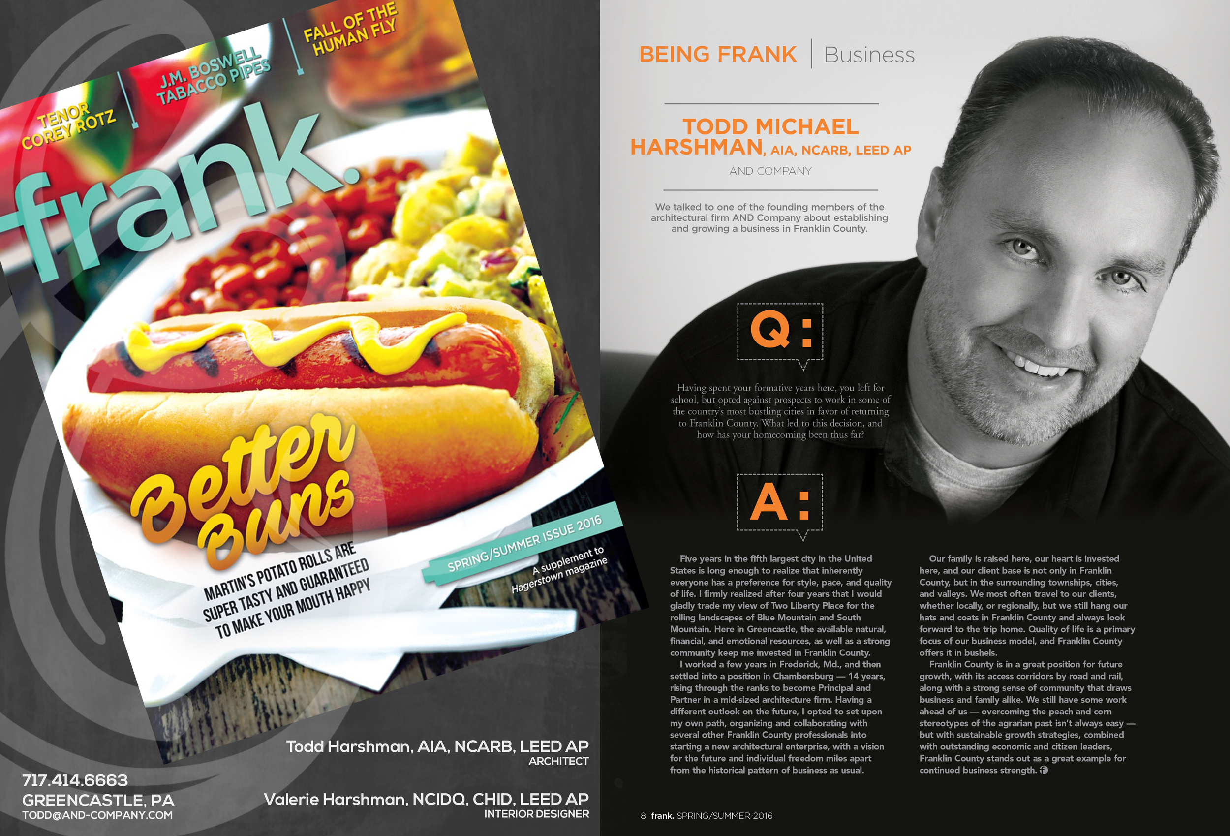 Principal Architect Todd Harshman interviewd in FRANK Magazine!
