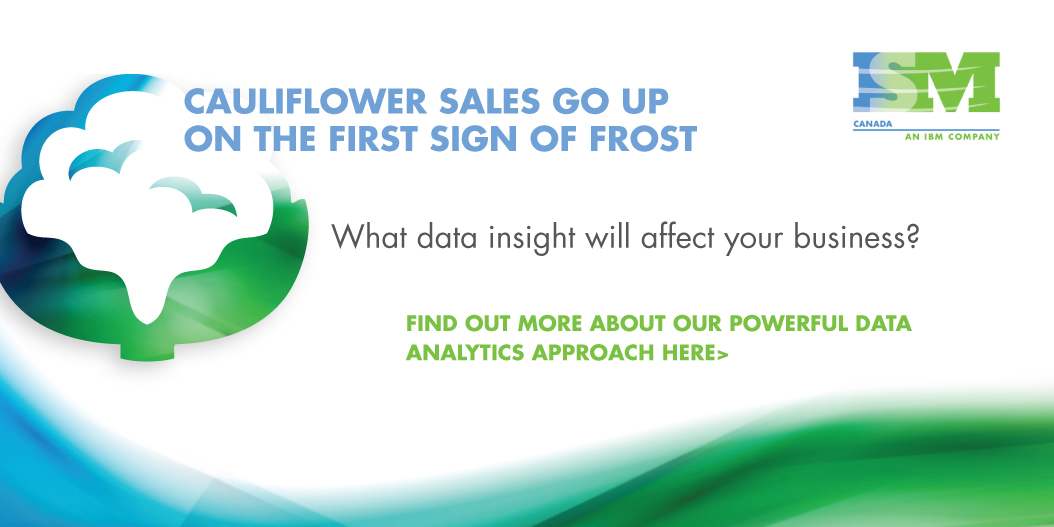 Cauliflower sales go up on the first sign of frost