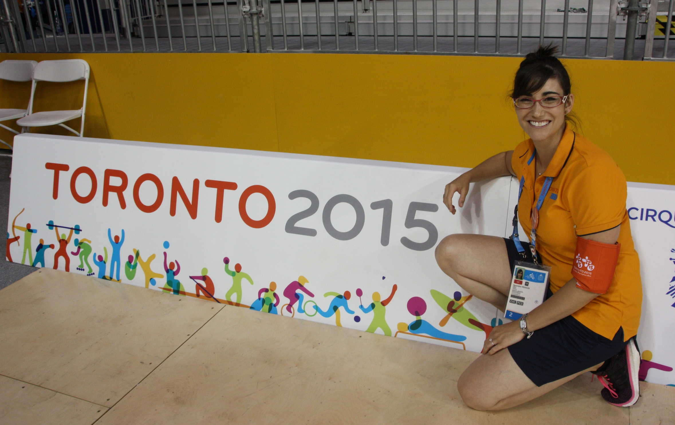 Working the Roller Figure Skating event at the 2015 PanAm Games in Toronto, ON.